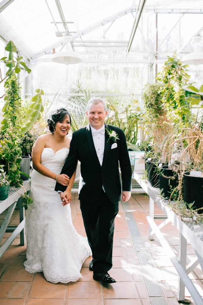 Weddings berkeley greenhouse couple
